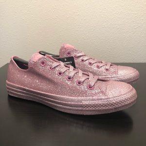 New Converse Pink Glitter women's Sz 9